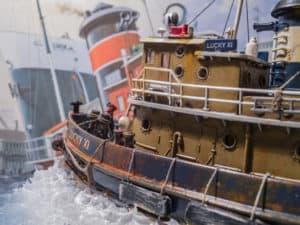 (Modell)Hafenschlepper Lucky XI im Einsatz