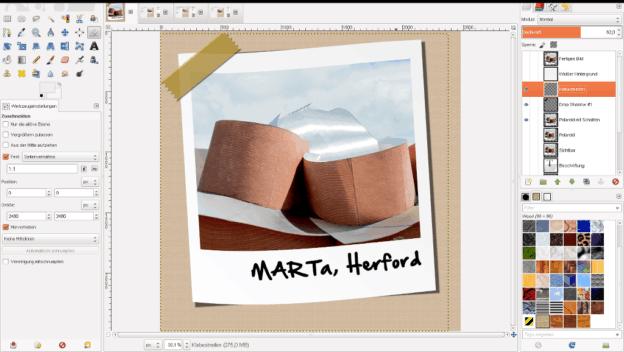 Polaroid im GIMP